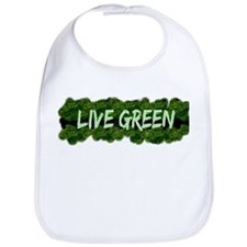 Live Green Bushes Bib