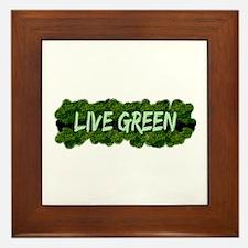 Live Green Bushes Framed Tile