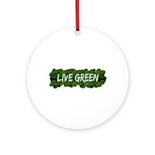Live Green Bushes Ornament (Round)