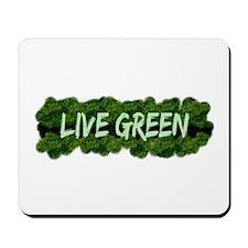 Live Green Bushes Mousepad