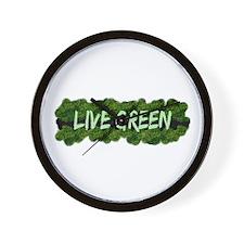 Live Green Bushes Wall Clock