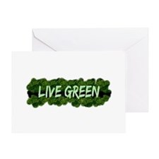 Live Green Bushes Greeting Card