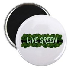 Live Green Bushes Magnet