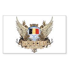 Soccer Belgium Rectangle Decal