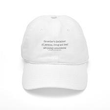 Writer's Disclaimer Baseball Baseball Cap