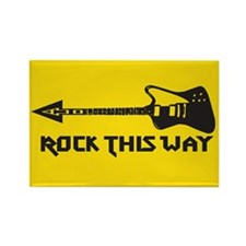 Rock This Way Rectangle Magnet