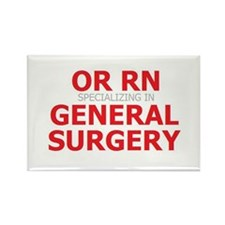 RN General Surgery Rectangle Magnet