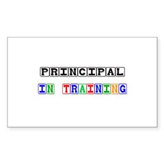 Principal In Training Rectangle Sticker