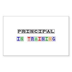 Principal In Training Rectangle Decal