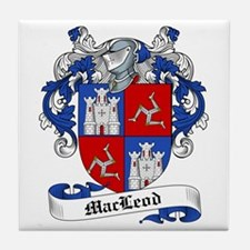 MacLeod Family Crest Tile Coaster
