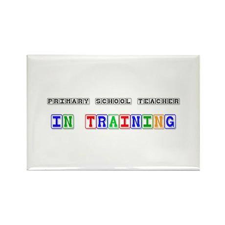 Primary School Teacher In Training Rectangle Magne