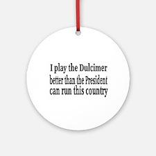Dulcimer Ornament (Round)