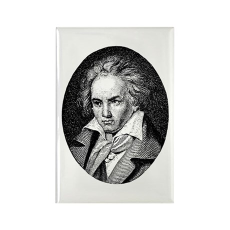 New Beethoven Rectangle Magnet