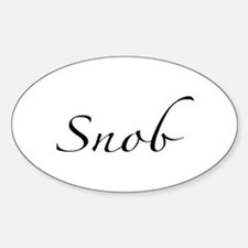 Snob Oval Decal