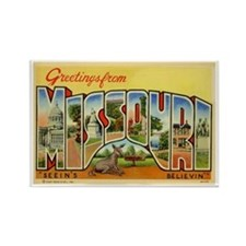 Missouri MO Rectangle Magnet
