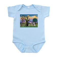 St Francis & 2 Tri Aussies Infant Bodysuit