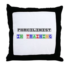 Porcilinist In Training Throw Pillow