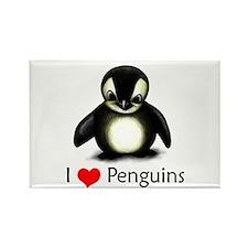 I Love Penguins Rectangle Magnet (100 pack)