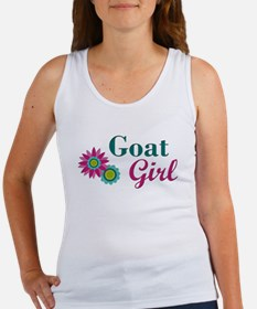 Goat Girl w flower Tank Top