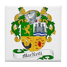 MacNeill Family Crest Tile Coaster