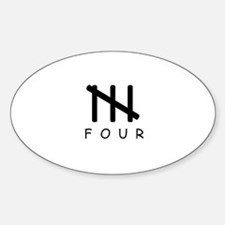 FOUR Logo Oval Decal