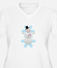 Breast Cancer Awareness Pink Ribbon Snowman Women'