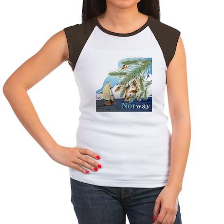 Norway Women's Cap Sleeve T-Shirt