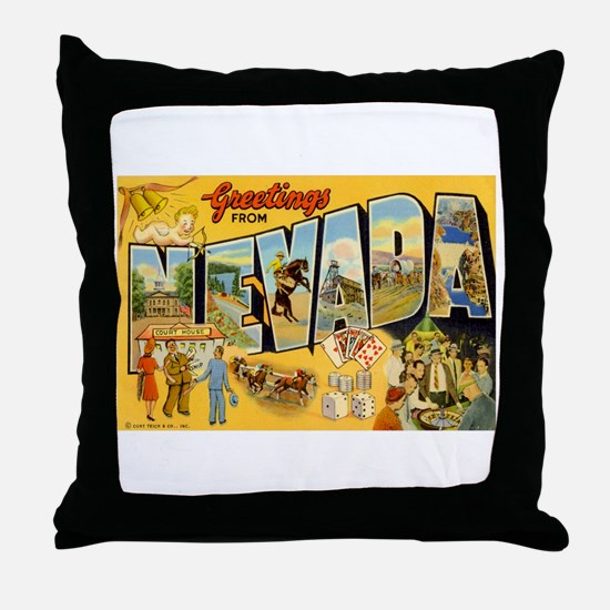 Nevada NV Throw Pillow