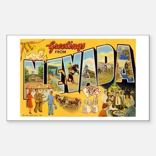 Nevada NV Rectangle Decal
