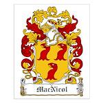 MacNicol Family Crest Small Poster