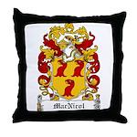MacNicol Family Crest Throw Pillow