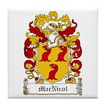 MacNicol Family Crest Tile Coaster