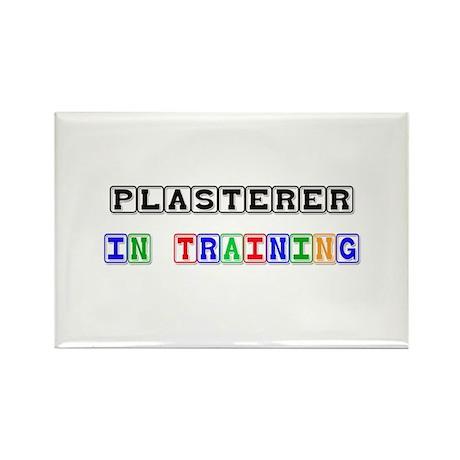 Plasterer In Training Rectangle Magnet (10 pack)