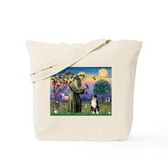 St Francis & Australian Shepherd Tote Bag