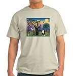 St Francis & Australian Shepherd Ash Grey T-Shirt