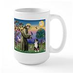 St Francis & Australian Shepherd Large Mug