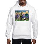 St Francis & Australian Shepherd Hooded Sweatshirt