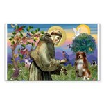 St Francis/ Aus Shep Rectangle Sticker