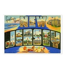 New Jersey NJ Postcards (Package of 8)