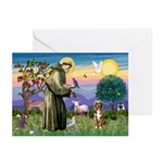 St Francis/Aussie (#5) Greeting Cards (Pk of 10)
