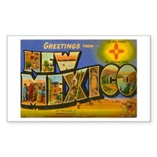 New Mexico NM Rectangle Decal
