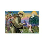 St. Francis & Beagle Rectangle Magnet