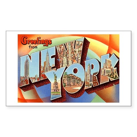 New York NY Rectangle Sticker 10 pk)