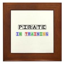 Pirate In Training Framed Tile