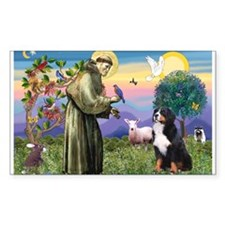 St Francis/Bernese Rectangle Decal