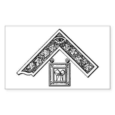 Past Master's Jewel Rectangle Sticker