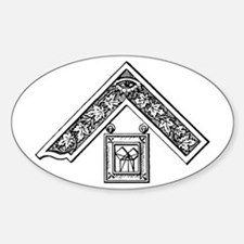 Past Master's Jewel Oval Decal