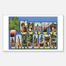 North Carolina NC Rectangle Sticker 50 pk)