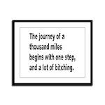 Beginning a Journey Framed Panel Print