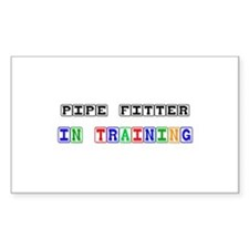 Pipe Fitter In Training Rectangle Decal